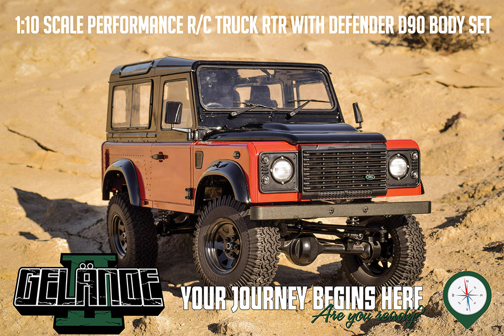 RC4WD Z-RTR0043 - Gelande II RTR w/2015 LAnd Rover Defender D90 Body Set (Autobiography Limited Edition)