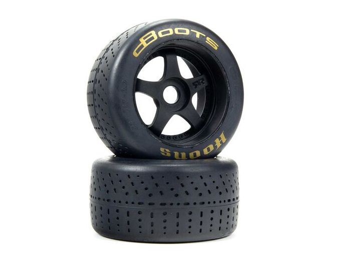 Arrma ARA55085 - 1/7 dBoots Hoons Rear 107 Gold Pre-Mounted Belted Tires, 17mm Hex