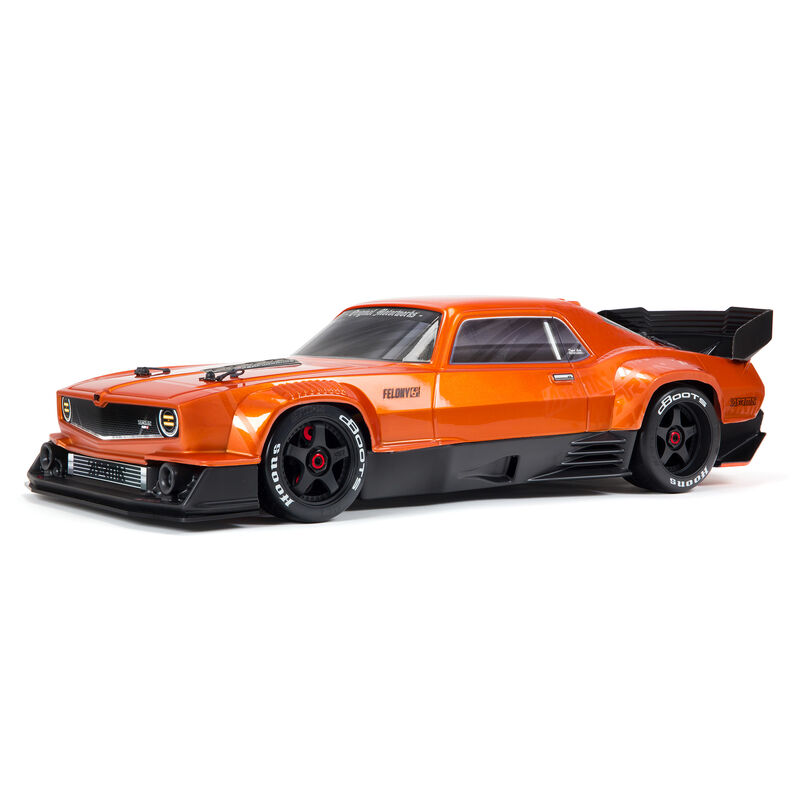Arrma ARA7617V2T2 - 1/7 FELONY 6S BLX Street Bash All-Road Muscle Car RTR, Orange
