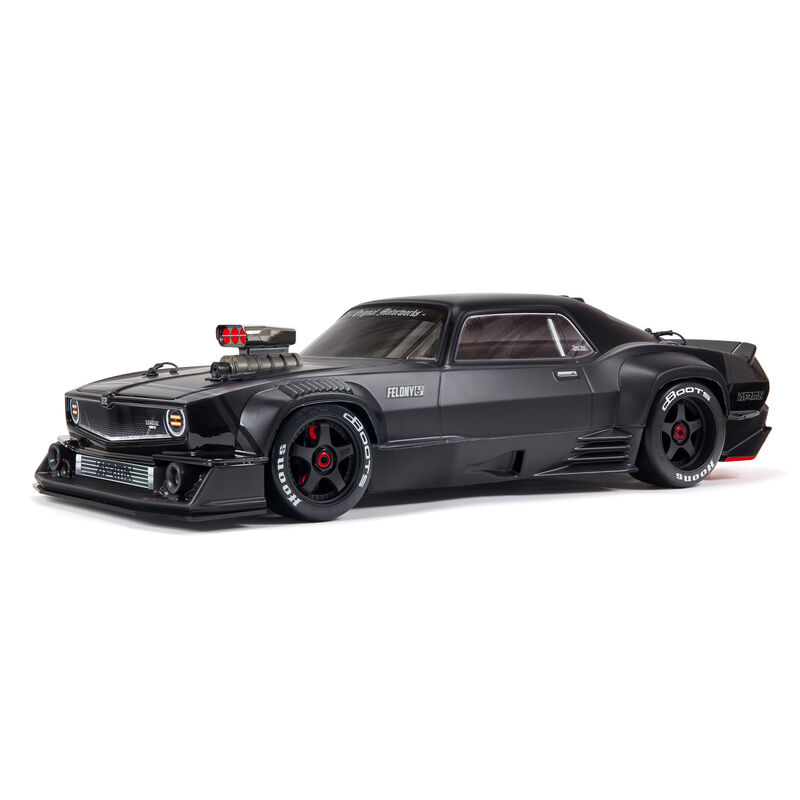 Arrma ARA7617V2T1 - 1/7 FELONY 6S BLX Street Bash All-Road Muscle Car RTR, Black