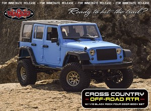 RC4WD Z-RTR0046 - Cross Country Off-Road RTR with 1/10 Black Rock 4-Door Body
