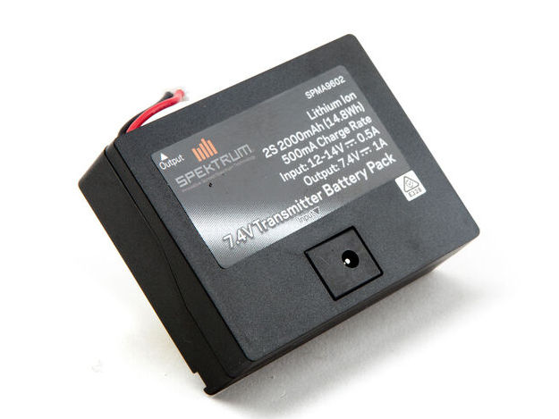 Spektrum SPMA9602 - 7.4V 2000mAh 2S Li-Ion Transmitter Battery: TX Plug