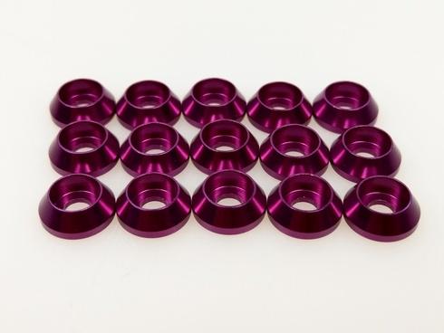 Q-World Q-313P - 3mm Alum Washer for Cap Screw Purple